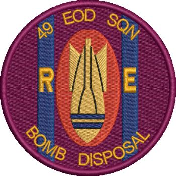 49 EOD Embroidered badge